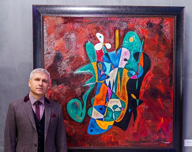Gheorghe Virtosu's Spiritual Canvas Art, Baptism Of Jesus (2017)