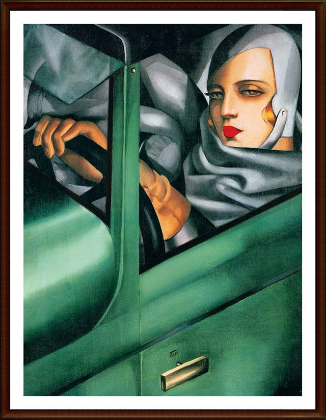 The Self-Portrait in the Green Bugatti (1929)