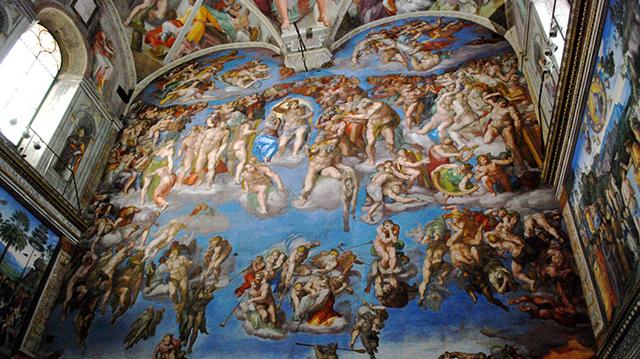 Michelangelo, The Last Judgment, Sistine Chapel, Vatican City, 1536-1541