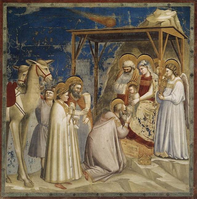Giotto di Bondone, Adoration of the Magi, c.1304 – c.1306, Scrovegni Chapel, Padua, Italy