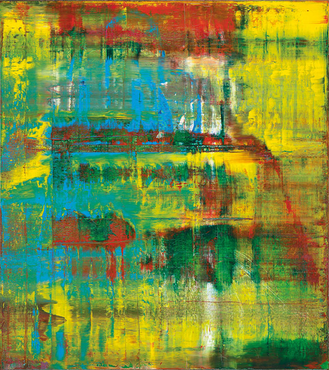 Gerhard Richter abstract history