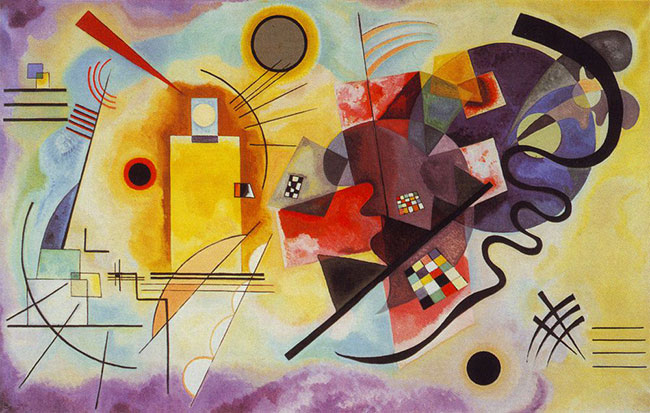 YELLOW, RED AND BLUE, C.1925 Wassily Kandinsky abstract art famous artists abstract painting Abstract art examples