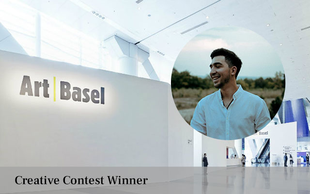 Iancu Voinovan the winner of the cultural trip to Art Basel, Hong Kong 2019 in our 'Creative Writing' contest