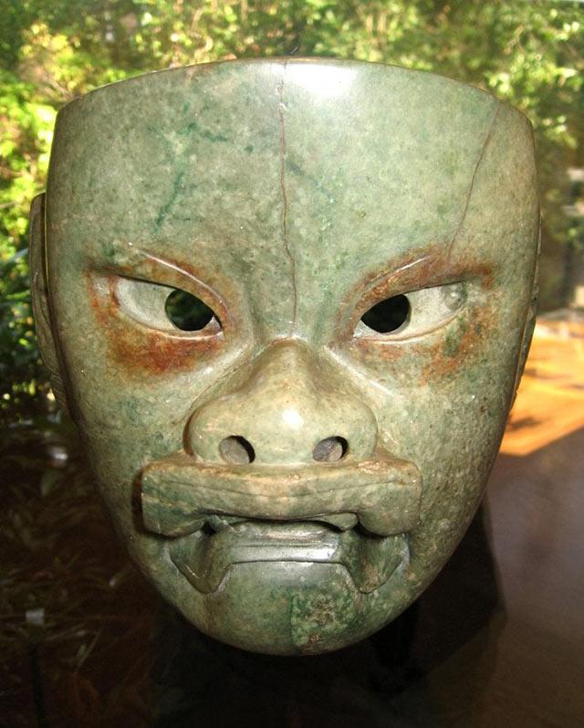 Olmec jadeite mask, 900-300 B.C.