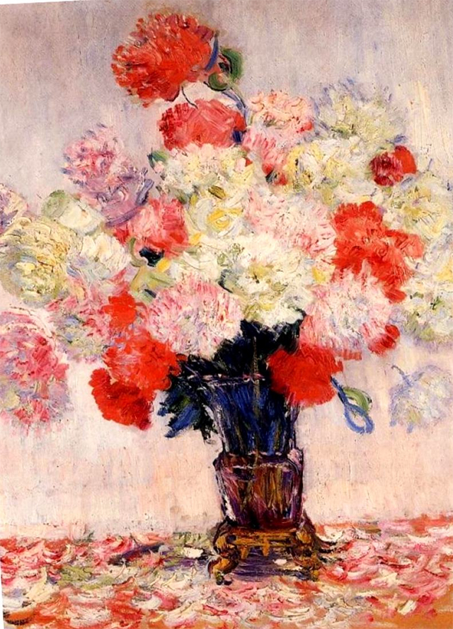 Claude Manet, Vase with peonies 1882