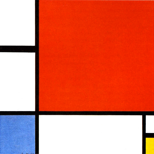 Composition with Red, Blue, and Yellow,1930