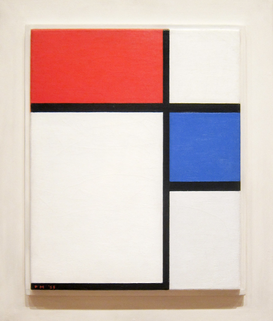 Composition No. II, With Red and Blue Piet Mondrian