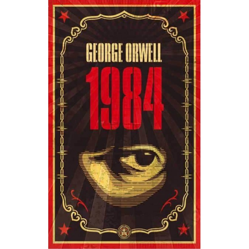 Shepard Fairey-George Orwell Print Set with Books